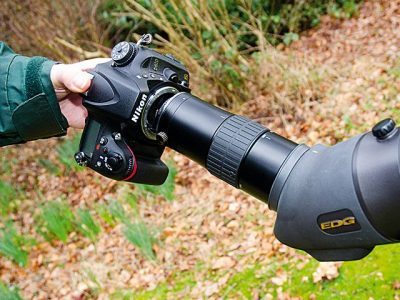 How to attach spotting scope to tripod?